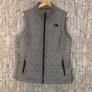 The North face vest gray purple large